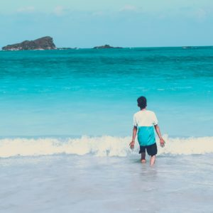 Boy Walking into the Ocean, Use Your Voice: Writing Poetry for the Environment virtual writing workshops