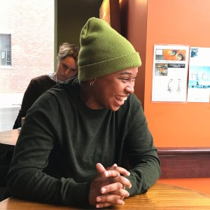 Photo of Cai Rodrigues-Sherley, online children's poetry writing workshop for teens facilitator
